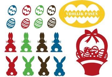 Set herbruikbare stickers Pasen   Rosami