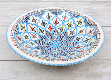 Salade schaal Turquoise blue fine Ø 30 cm | SOR.BC.30 | Dishes & Deco