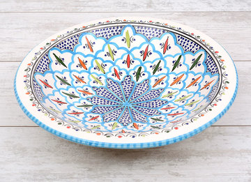 Salade schaal Turquoise blue fine Ø 35 cm | SOR.BC.35 | Dishes & Deco