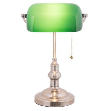 Bureaulamp groen 27*17*41 cm E27/60W Groen | 5LL-5100 | Clayre & Eef