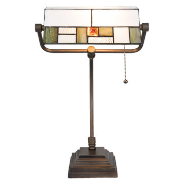 Bureaulamp Tiffany 31*30*52 cm / E27 / Max. 1x60 Watt Multi | 5LL-5194 | Clayre & Eef