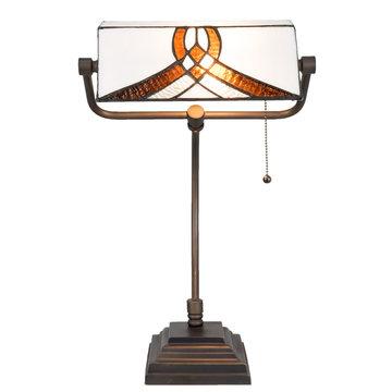 Bureaulamp Tiffany 31*30*52 cm / E27 / Max. 1x60 Watt Multi | 5LL-5195 | Clayre & Eef