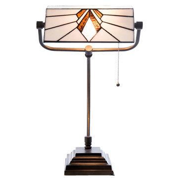 Bureaulamp Tiffany 32*27*51 cm / E27/Max.1x 60 Watt Wit | 5LL-5900 | Clayre & Eef