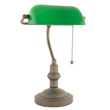 Bureaulamp groen ø 27*40 cm E27 / Max 60W Groen | 5LL-5125 | Clayre & Eef