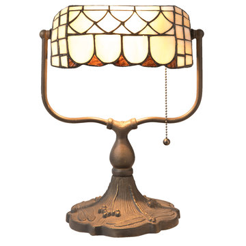 Bureaulamp Tiffany 26*21*37 cm E27 / Max 60W Multi | 5LL-5729 | Clayre & Eef