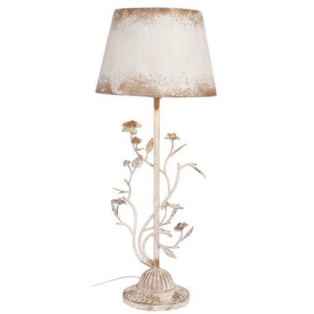 Tafellamp ø 33*79 cm E27/max 1*60W Wit   5LMC0001   Clayre & Eef