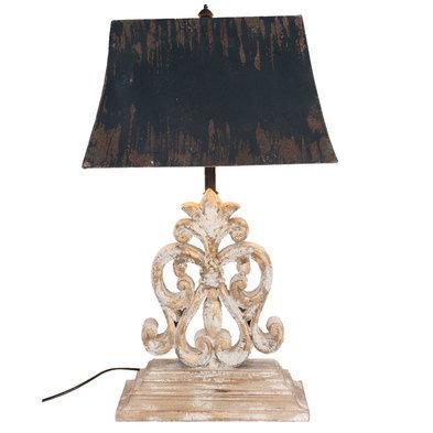 Tafellamp 40*28*67 cm E27/max 1*60W Wit   5LMP183   Clayre & Eef