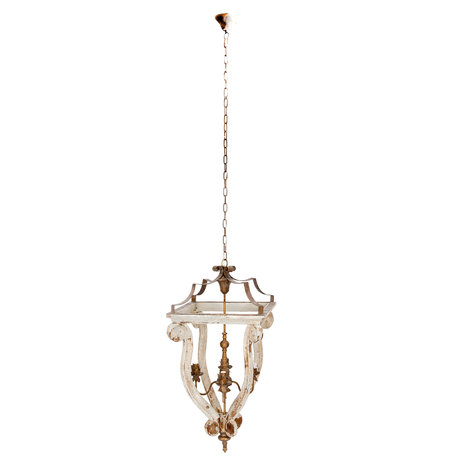 Hanglamp 49*49*100 cm E14/max 4*25W Grijs | 5LMP189 | Clayre & Eef