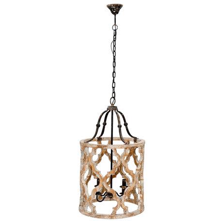 Hanglamp ø 48*85 cm E14/max 4*25W Grijs | 5LMP194 | Clayre & Eef