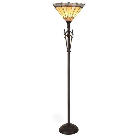 Vloerlamp Tiffany ø 45*182 cm E27/max 1*60W Meerkleurig | 5LL-5763 | Clayre & Eef