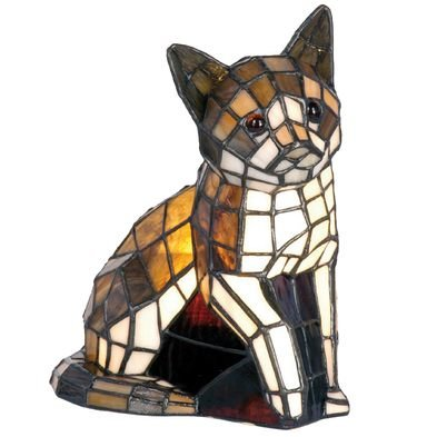 Tafellamp Tiffany 21*11*25 cm E14/max 1*40W Meerkleurig | 5LL-776 | Clayre & Eef