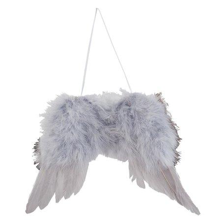 2 STUKS Hanger vleugel 23*1*17 cm Grijs | 63381 | Clayre & Eef