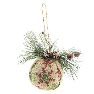 2 STUKS Kerstbal 10*6*9 cm Meerkleurig | 64034 | Clayre & Eef