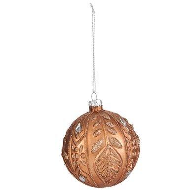 2 STUKS Kerstbal ø 8 cm Bruin | 6GL1633 | Clayre & Eef