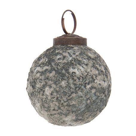 2 STUKS Kerstbal ø 6 cm Grijs | 6GL2118 | Clayre & Eef