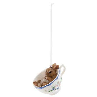 Decoratie hanger konijn 9*7*5 cm Meerkleurig | 6PR0692 | Clayre & Eef
