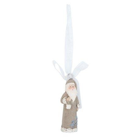 2 STUKS Hanger kerstman 2*2*6 cm Grijs | 6PR0850 | Clayre & Eef