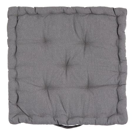 Kussen met foam 40*40*8 cm Grijs | KT029.034DG | Clayre & Eef