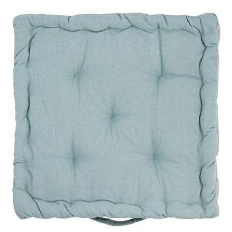 Kussen met foam 40*40*8 cm Groen | KT029.034GR | Clayre & Eef