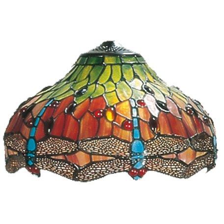 Lampenkap Tiffany ø 30 cm Meerkleurig | 5LL-9202 | Clayre & Eef