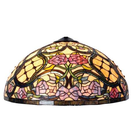 Lampenkap Tiffany ø 50*26 cm Meerkleurig | 5LL-9962 | Clayre & Eef