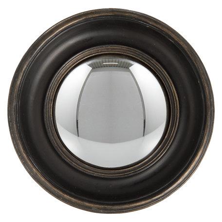 Bolle spiegel ø 23*3 cm Bruin   62S128   Clayre & Eef