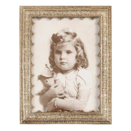 Fotolijst 17*22 cm / 13*18 cm Zilverkleurig   2854   Clayre & Eef