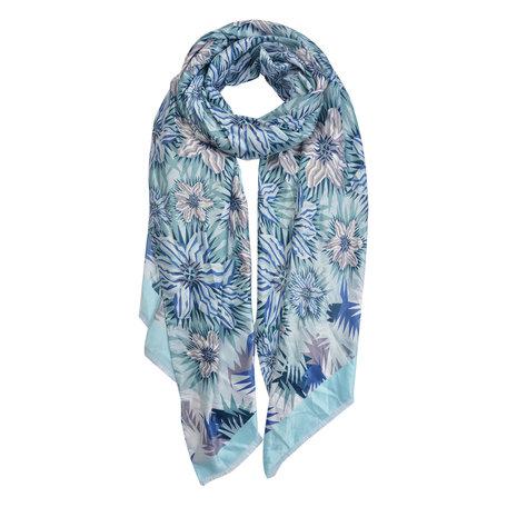 Sjaal 88*180 cm Blauw | JZSC0419BL | Clayre & Eef