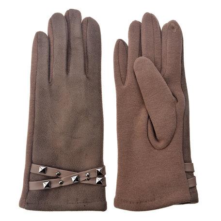 Handschoenen 8*24 cm Bruin | MLGL0023KH | Clayre & Eef