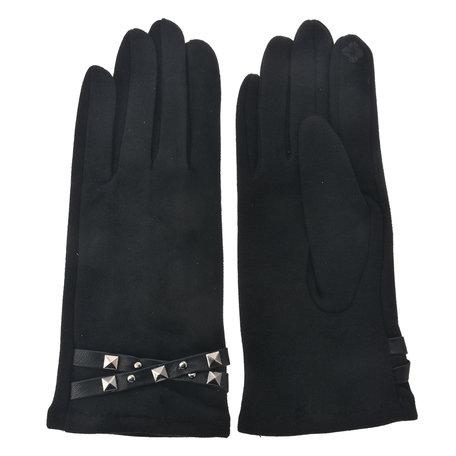 Handschoenen 8*24 cm Zwart | MLGL0023Z | Clayre & Eef