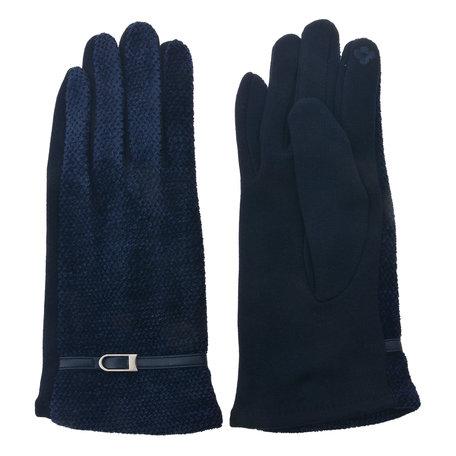 Handschoenen 8*24 cm Blauw | MLGL0026 | Clayre & Eef