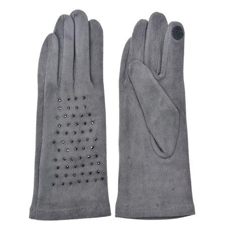 Handschoenen 8*24 cm Grijs | MLGL0036G | Clayre & Eef