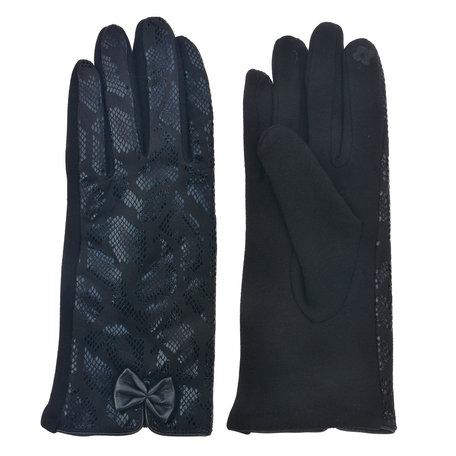 Handschoenen 8*24 cm Zwart | MLGL0037 | Clayre & Eef