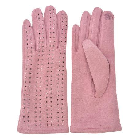 Handschoenen 8*24 cm Roze | MLGL0038P | Clayre & Eef