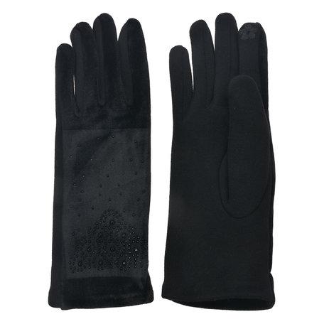 Handschoenen 8*24 cm Zwart | MLGL0040 | Clayre & Eef