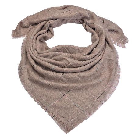 Sjaal 130*130 cm Roze   MLSC0322P   Clayre & Eef
