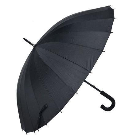 Paraplu ø 93*90 cm Zwart | MLUM0029Z | Clayre & Eef
