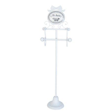 Toiletpapierhouder 22*13*77 cm Wit | 5Y0250 | Clayre & Eef