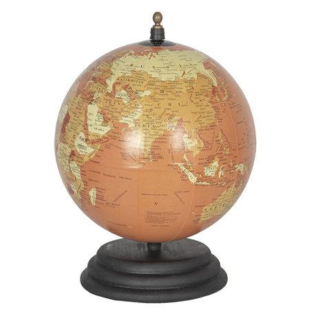 Wereldbol/globe 20*15*15 cm Rood | 64121 | Clayre & Eef