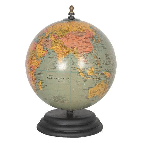 Wereldbol/globe 20*15*15 cm Blauw   64123   Clayre & Eef