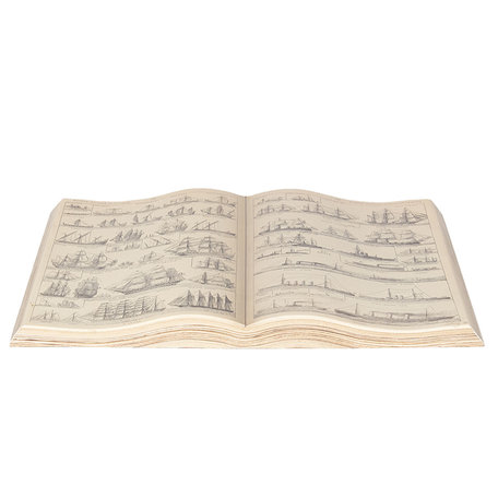 Decoratie boek 48*28 cm Wit/zwart | 6PA0493 | Clayre & Eef