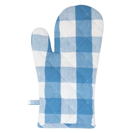Ovenhandschoen 16*30 cm Blauw | CFA44BL | Clayre & Eef