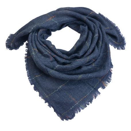 Sjaal 130*130 cm Blauw   MLSC0322BL   Clayre & Eef