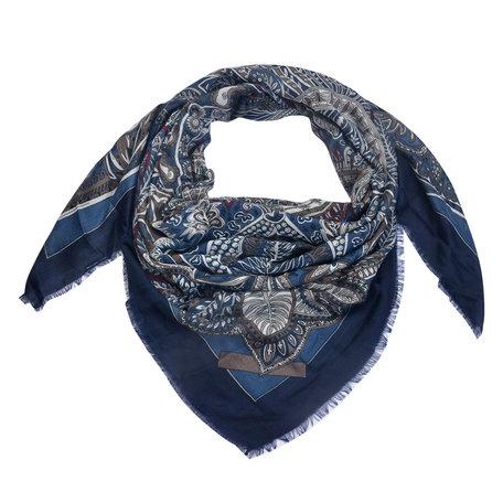 Sjaal 135*135 cm Blauw   MLSC0336BL   Clayre & Eef