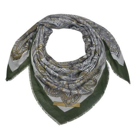 Sjaal 135*135 cm Groen   MLSC0336GR   Clayre & Eef