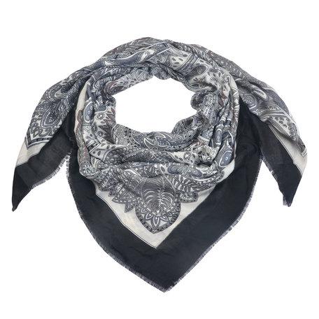 Sjaal 135*135 cm Zwart   MLSC0336Z   Clayre & Eef