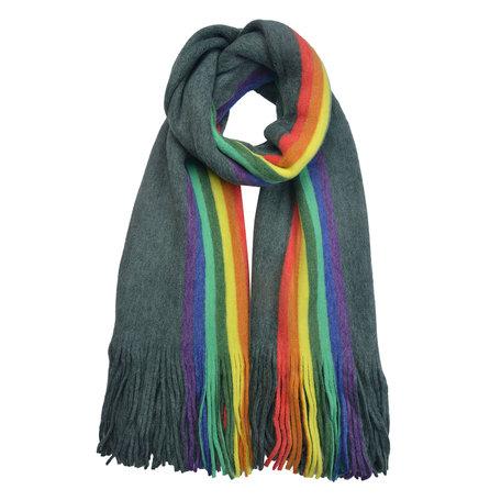Sjaal 50*180 cm Groen | MLSC0369GR | Clayre & Eef