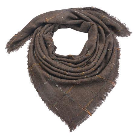 Sjaal 130*130 cm Bruin   MLSC0322CH   Clayre & Eef
