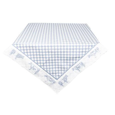 Tafelkleed 100*100 cm Blauw | LWC01BL | Clayre & Eef