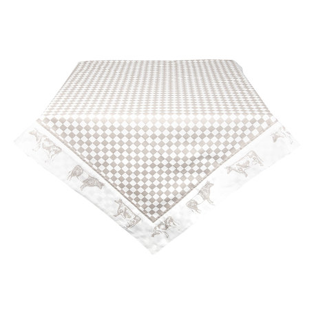 Tafelkleed 100*100 cm Natuur | LWC01N | Clayre & Eef